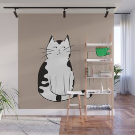 Java the Coffee Cat Wall Mural