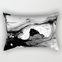 Soft Black Marble Rectangular Pillow