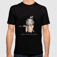 Long live the dead - Raccoon Mens Fitted Tee MEDIUM Black