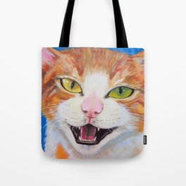 """Ready for """"Meow"""" Close Up Tote Bag"""