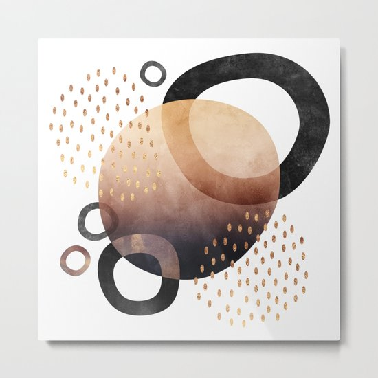 Graphic Abstract 1 Metal Print