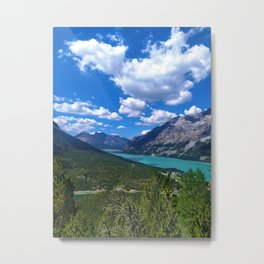 Hike lake view- lake of Braies Metal Print