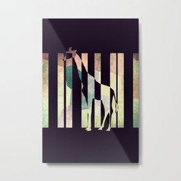La girafe Metal Print