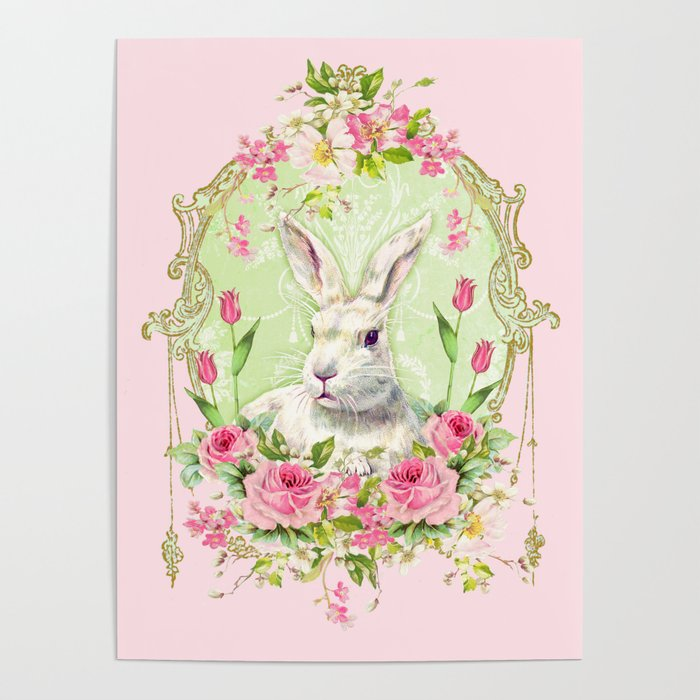 Spring Bunny Poster