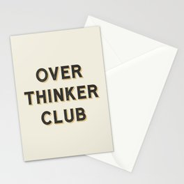 Overthinker Club Stationery Cards