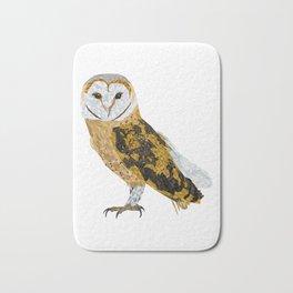 Low Poly Barn Owl Bath Mat