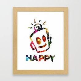 Crayon HAPPY Framed Art Print