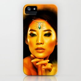 Green Eyed Beauty iPhone Case