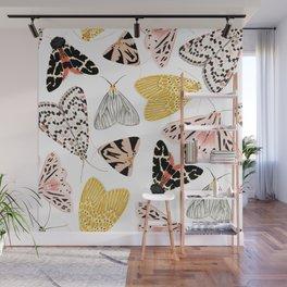 Moth's Diverse Beauty Pattern Wall Mural