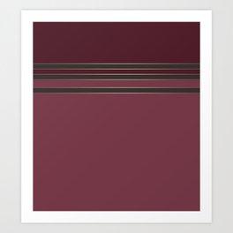 Burgundy combo pattern dark maroon Art Print