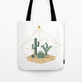Tucson Arizona Cactus Terrarium Tote Bag