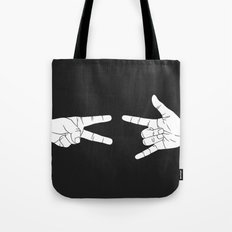 Peace Love and Rock N Roll Tote Bag