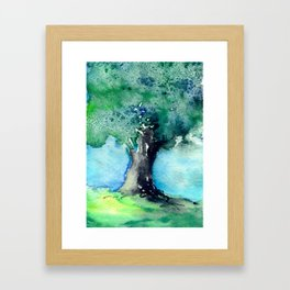 Oak Tree Framed Art Print