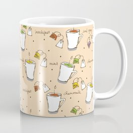I Love Tea Doodles Coffee Mug