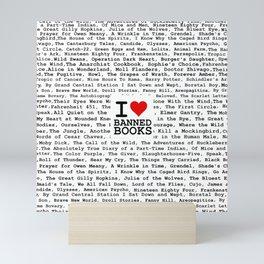 I Heart Banned Books Mini Art Print
