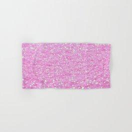Pink Glitter Hand & Bath Towel