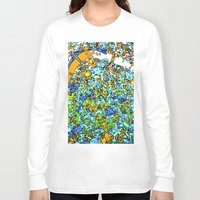 maps Long Sleeve T-shirts featuring Funky Maps, LONDON by MehrFarbeimLeben