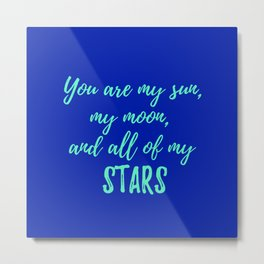 Baby Boy Nursery Decor Metal Print