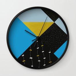 Garden In Tangrams Wall Clock