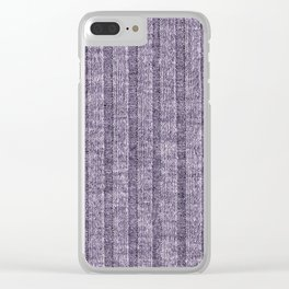 Lilac Jersey Knit Pattern Clear iPhone Case