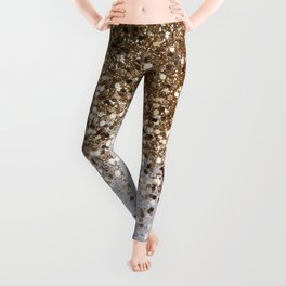 Sparkling Champagne Gold Glitter Glam #1 #shiny #decor #art #society6 Leggings
