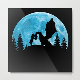 Friendship Of A Blue Moon Metal Print