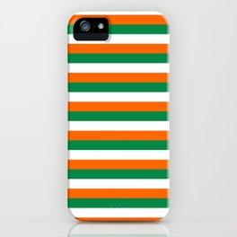 ireland ivory coast miami niger flag stripes iPhone Case