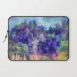 Mountain waterfall Laptop Sleeve