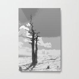 """""""Alone on Sandia"""" Metal Print"""