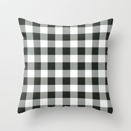 Buffalo Check in black Throw Pillow