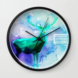LOW-POLY DEER Wall Clock