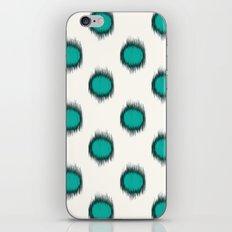 Ikat Dots Teal iPhone & iPod Skin