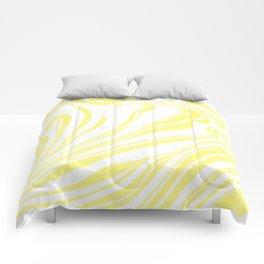 Yellow Marble Ink Watercolor Comforters