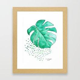 monstera monday Framed Art Print