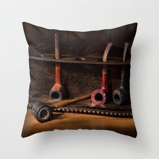 The Pipe Rack Throw Pillow by Ann Garrett Society6