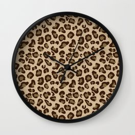 Leopard-Beige+Brown Wall Clock