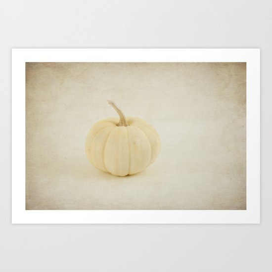 Baby White Pumpkin Art Print