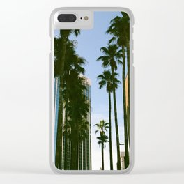 Palm Tree City Clear iPhone Case