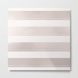 Rose Gold and Wide Pink Stripes Mix Pattern Metal Print