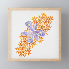 Iris and Butterfly Weeds Framed Mini Art Print