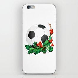 Soccer Christmas iPhone Skin