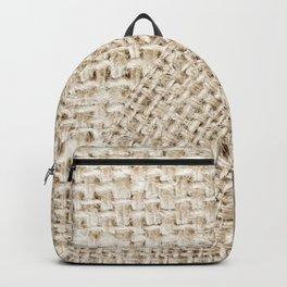 Unique Texture Taupe Burlap Mandala Design Backpack