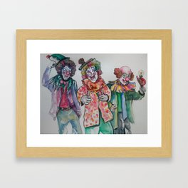 The 3 clowns Framed Art Print