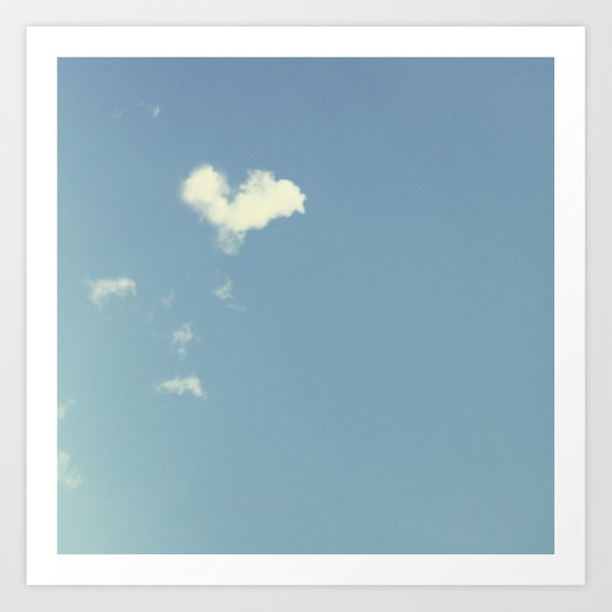 Collecting Clouds {heart} Art Print