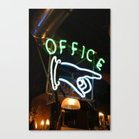 office Canvas Prints featuring Office by MJ Springs