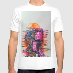 Process SMALL White Mens Fitted Tee