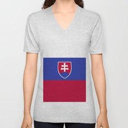 Slovakia flag emblem Unisex V-Neck