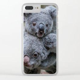 koala love Clear iPhone Case
