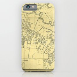 San Mateo, Burlingame, Hillsborough, San Carlos, Belmont Map 1938 iPhone Case