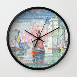 The Port Of La Rochelle, Paul Signac, 1921 Wall Clock